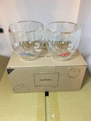 雙層玻璃杯 雙層杯 雙層馬克杯(一組2入)