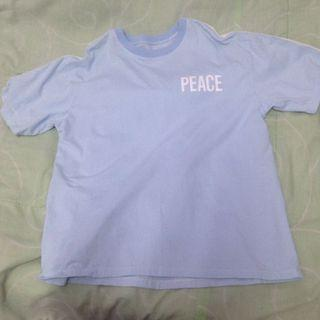 "Baby Blue ""peace"" tee"
