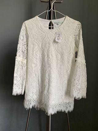 Cleo White Lace Top