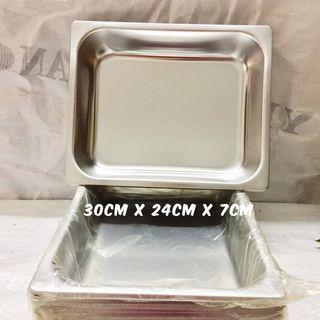 Stainless Steel Tray Rectangle