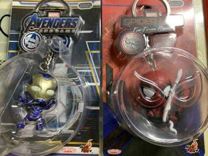 Hottoys Marvel Avengers Endgame Cosbaby Rescue /Spiderman 鎖鑰扣 Keychain