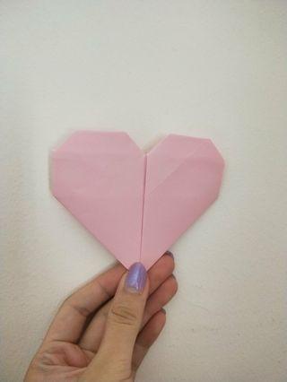 Origami heart shape (large)