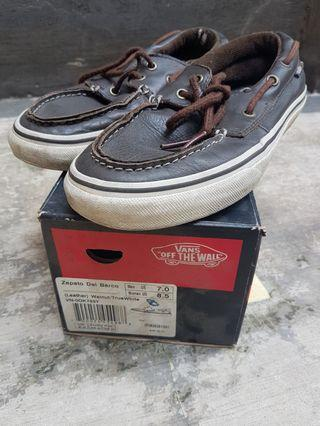 Vans Zapato Del Barco Leather walnut size 7US