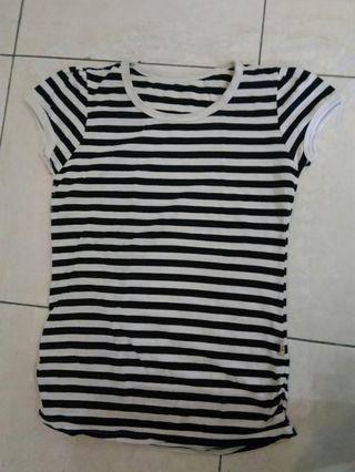 Kaos stripe navy white