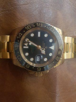 Arloji Rolex GMT Master II Swiss Clone 1:1 (Full Gold)