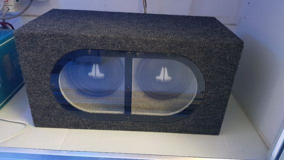 Twin Subwoofers in Bandpass Enclosure (JL Audio)