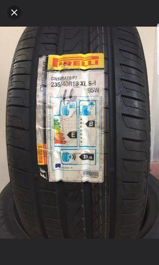 2 pcs pirelli 235 40 18 (new tyre) 1 pcs $120 ...Dom 2016