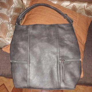 Parisian Gray Shoulder Bag