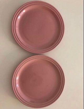 Le Creuset 碟 satin pink 一對