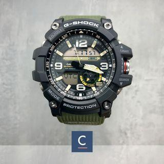 🔴GSS🔴[✅FREE Shipping]: ✅💯Authentic Casio G-Shock Mudmaster Master of G Twin Sensor Sport Watch - Army Green Strap GG-1000-1A3