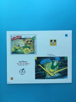 外國郵票—聖文仙卡通人物小型張1