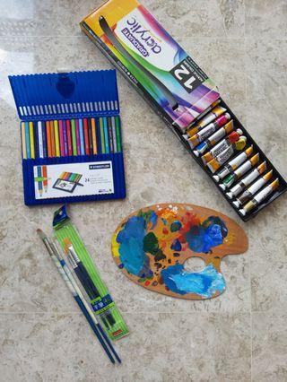 🚚 Art painting/drawing materials