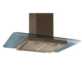 Turbo Incanto T108-90SS 90cm Chimney Hood With Glass Panel