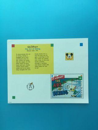 外國郵票—聖文仙卡通人物小型張2