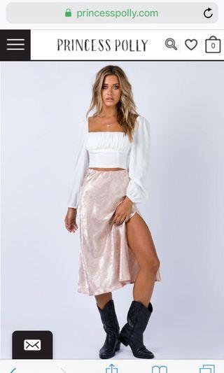 Princess Polly jeannie midi skirt