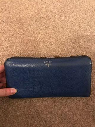 Royal Blue Fossil Wallet