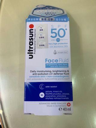 Ultrasun SPF50+ face fluid (Made in Switzerland)