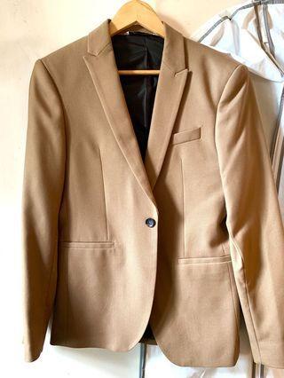 Zara 西装外套 brown blazer