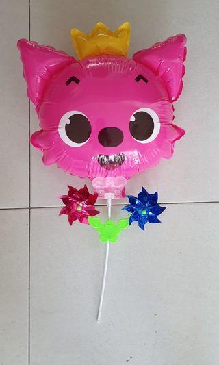 Pinkfong baby shark balloon with windmills