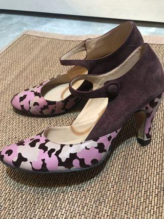 Repetto Paris purple Maryjane ballet heels shoes 38.5