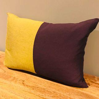 Custom-made cushion with plump duck feather insert