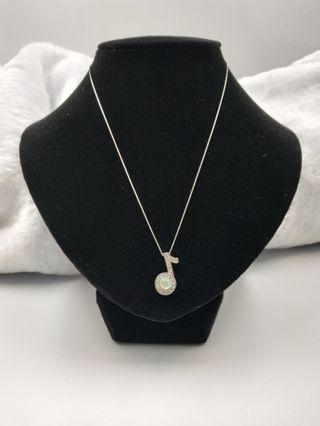 Jadeite Necklace with cert, S925