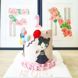 🚚 Customised cake 1st birthday