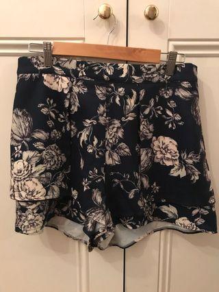 Floral Navy Shorts
