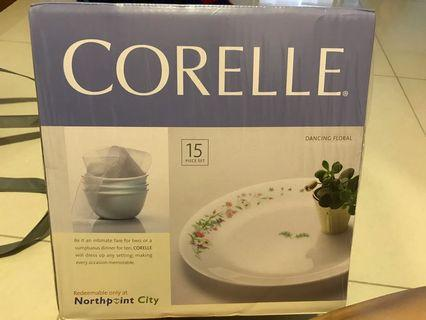 Corelle dining set and casserole