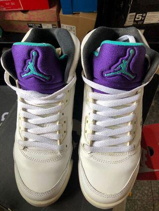 Nike Air Jordan 5 GS grape 5.5y