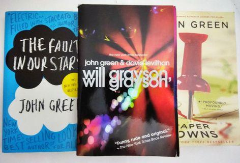 Novel Inggris Original Pre-loved - John Green - The Fault in Our Stars; Will Grayson, Will Grayson; Paper Towns