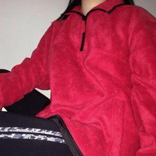 Men's oversized fleece jumper