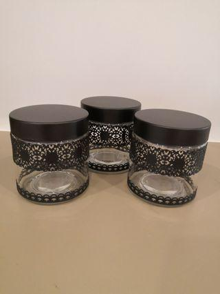 3 pcs Glass Canister Set