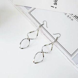 全新🌸超仙氣質個性百搭冷淡風螺旋波浪長款垂吊垂墜式耳環