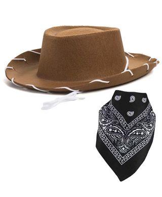 🚚 Cowboy hat - western hat with paisley bandana - dress up clothes for kids