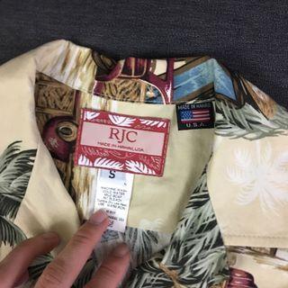 RJC Hawaiian shirt made in Hawaii!!