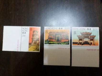 香港郊區建築 郵票