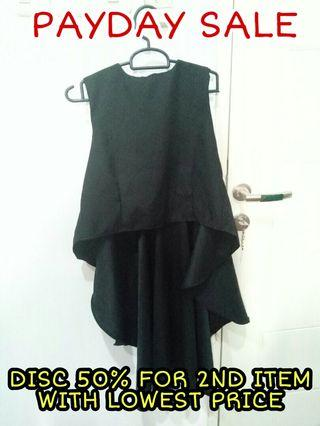 Black Long Tail Top #joinjuli