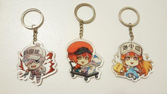 anime keychains (cells at work)