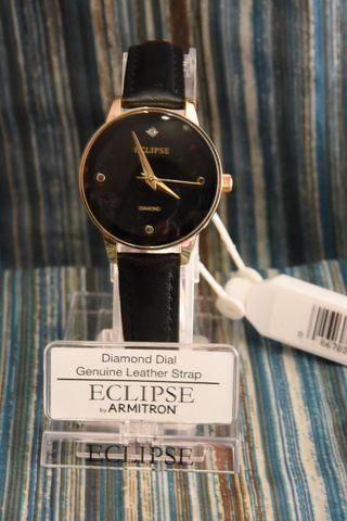 Leather Watch for Women ECLIPES by ARMITRON Authentic