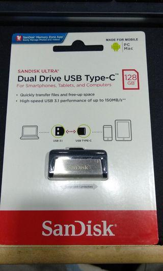 Authentic SanDisk Ultra USB Type-C 128GB Drive