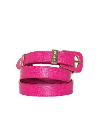 Review hot pink belt- brand new with tags
