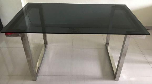 Black Tempered Glass Dining Table