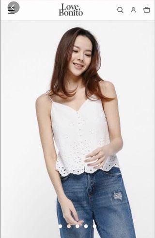 Love Bonito Arden Broderie Anglaise Camisole Top