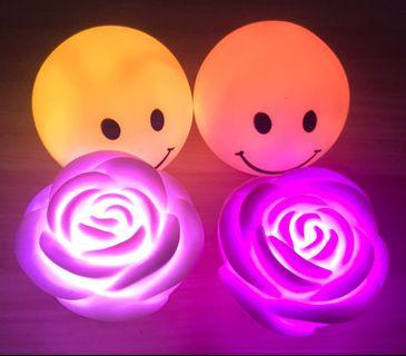 Colourful lights - Rose & Smiley