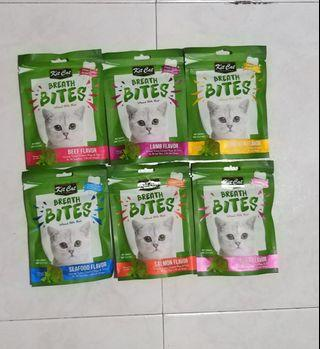 Kit Cat Breath Bites Infused with Mint - New Product