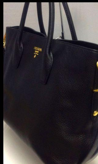 🚚 Prada Vitello Leather Handbag