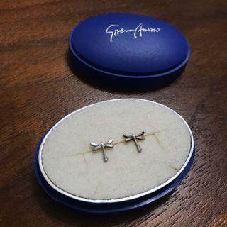 二手純銀蜻蜓耳環