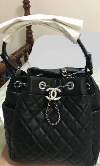 CHANEL drawstring bag