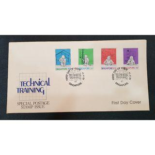 """1981 Singapore First Day Cover - """"Technical Training"""""""